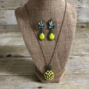 Jewelry - Pineapple Necklace & Earrings Set